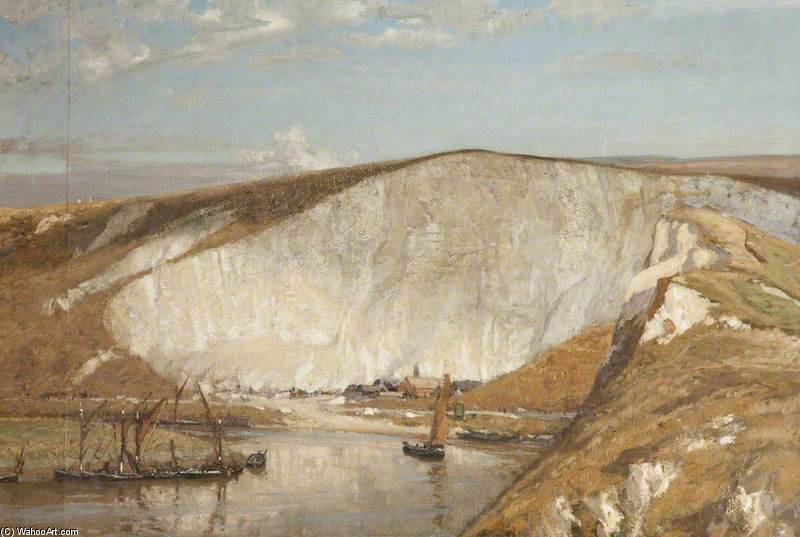 The Chalk Pit by Algernon Talmage (1871-1939, United Kingdom)