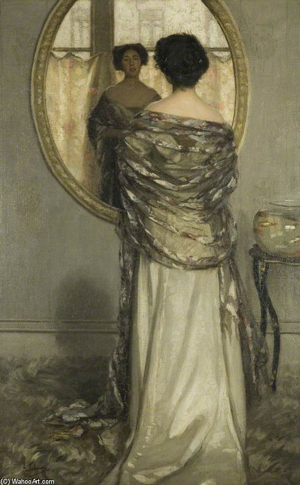 The Mackerel Shawl by Algernon Talmage (1871-1939, United Kingdom)
