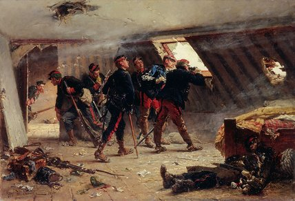 Episode From The Franco by Alphonse Marie Adolphe De Neuville (1836-1885, France)