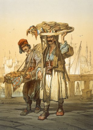 Bread Sellers On The Quay, by Amadeo Preziosi (1816-1882, Malta) | Museum Quality Reproductions | ArtsDot.com