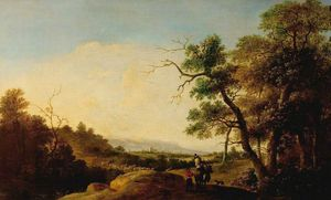 Andries Both - Landscape With Figures