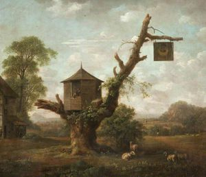 Anthony Devis - Landscape With A Hut In An Oak..