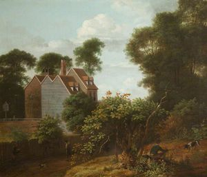 Anthony Devis - Landscape With House On The Ed..