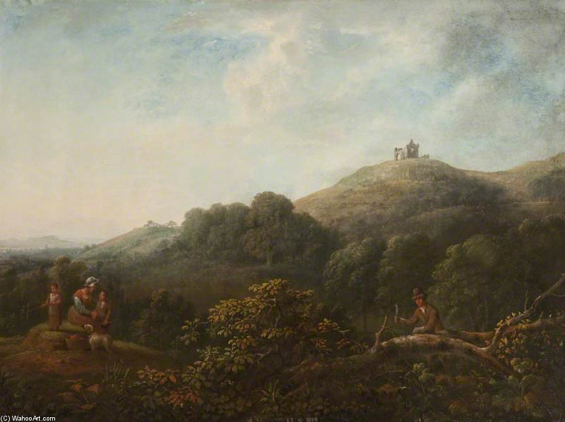 Landscape With St Martha's Chapel by Anthony Devis (1729-1816, United Kingdom)