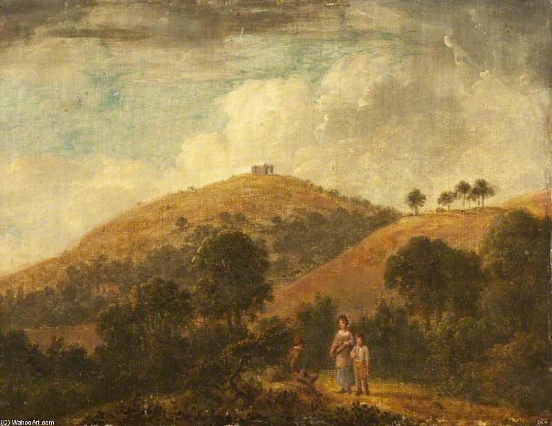 Landscape With The Ruins Of St Martha's Chapel Beyond by Anthony Devis (1729-1816, United Kingdom)