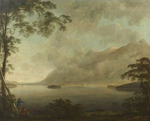 Anthony Devis - Landscape – View of Derwentwat..