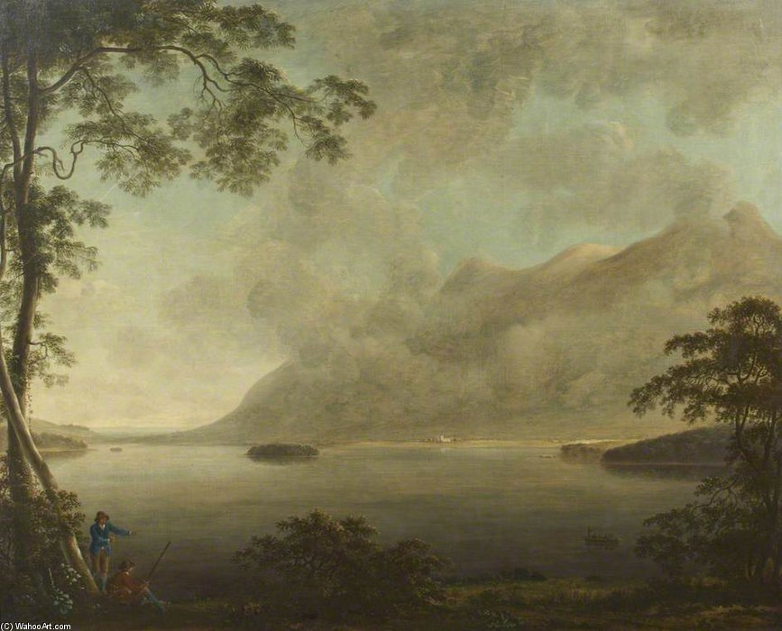Landscape – View of Derwentwater by Anthony Devis (1729-1816, United Kingdom)