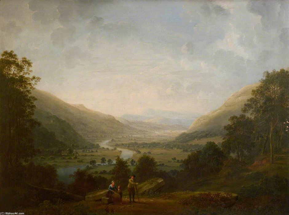 Langdale Valley With The River Brathay by Anthony Devis (1729-1816, United Kingdom)