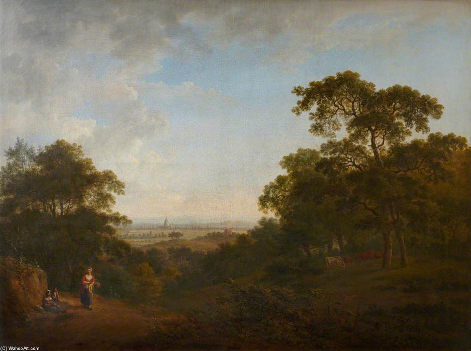 Looking Over London by Anthony Devis (1729-1816, United Kingdom)
