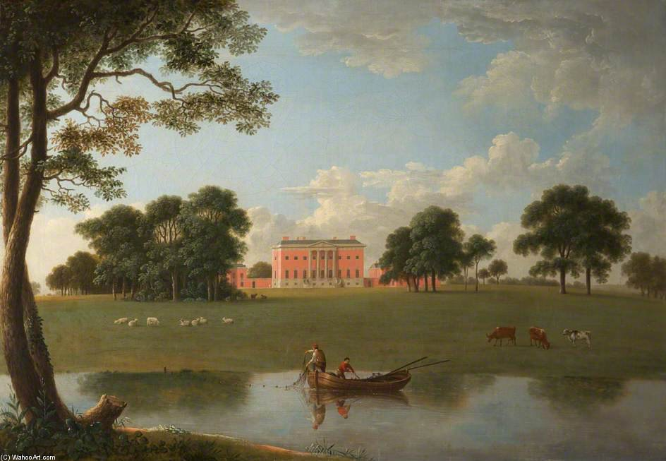 Tabley - Tabley House From The Park by Anthony Devis (1729-1816, United Kingdom)