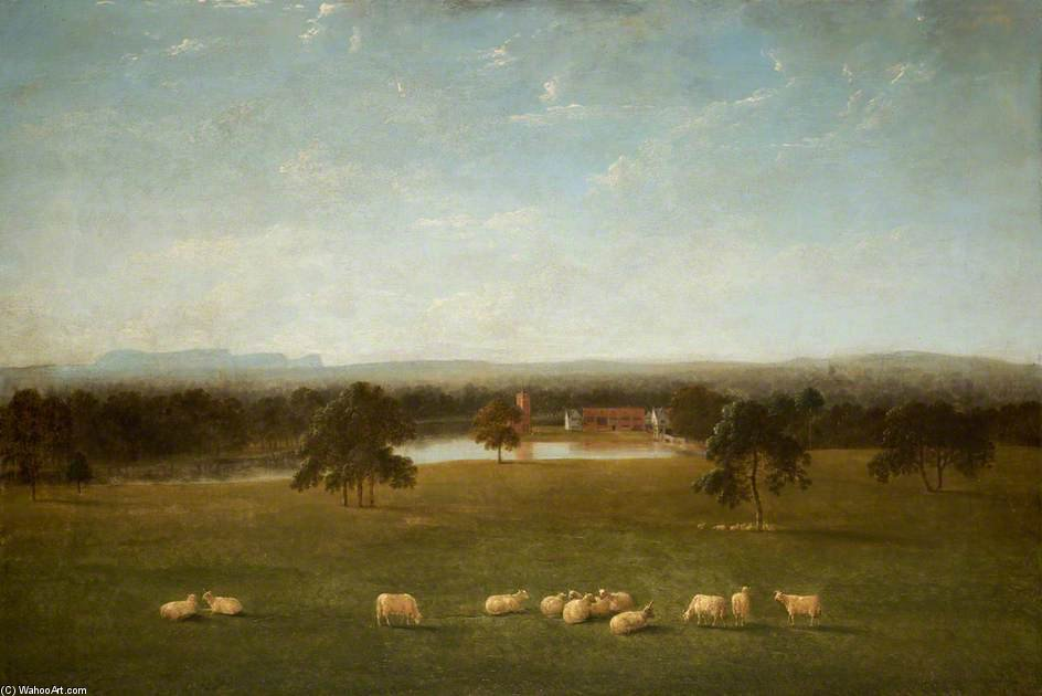 Tabley - The Old Hall From The Park by Anthony Devis (1729-1816, United Kingdom)