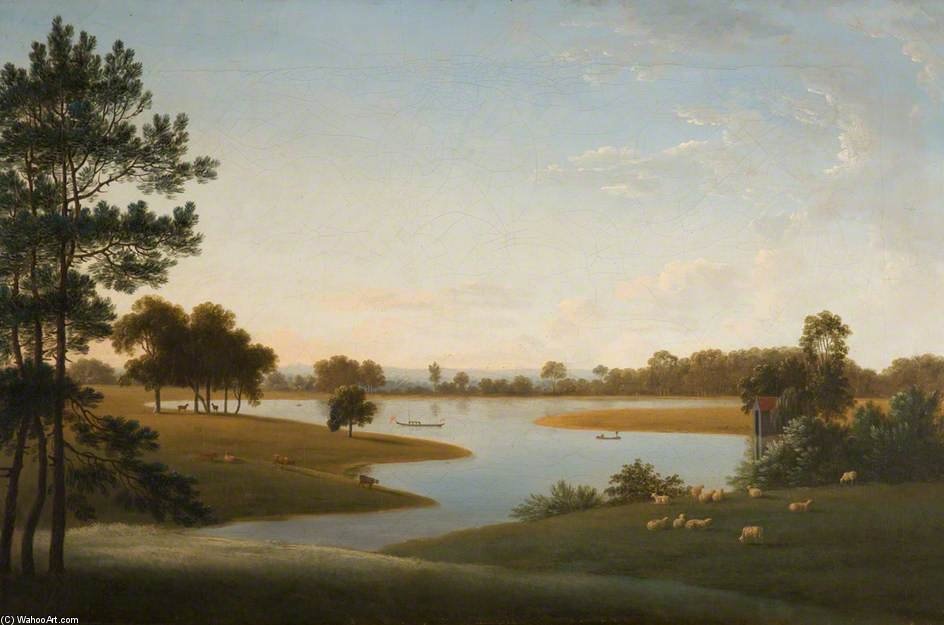 Tabley - The Park And Mere by Anthony Devis (1729-1816, United Kingdom)