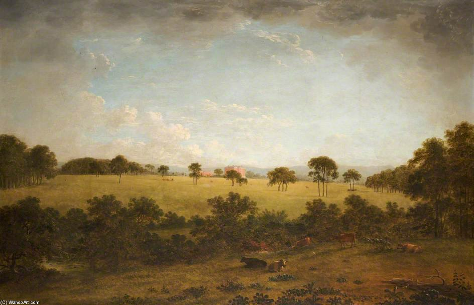 Tabley - The Park With A Distant View Of The House by Anthony Devis (1729-1816, United Kingdom)