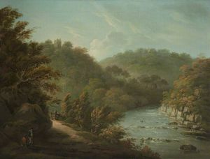 Anthony Devis - The River Ure At Hackfall, Nea..