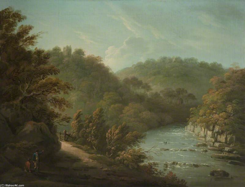 The River Ure At Hackfall, Near Ripon, West Riding Of Yorkshire by Anthony Devis (1729-1816, United Kingdom)