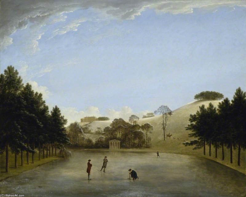 Upton House From The South by Anthony Devis (1729-1816, United Kingdom)