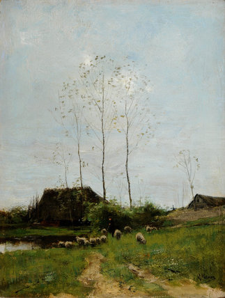 Landscape With Shepherd And Sheep by Anton Mauve (1838-1888, Netherlands) | ArtsDot.com