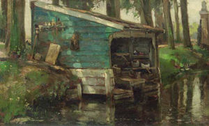 August Willem Van Voorden - The Wash-house