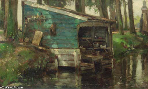 The Wash-house by August Willem Van Voorden (1881-1921)