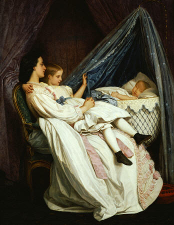 The New Arrival by Auguste Toulmouche (1829-1890, France)