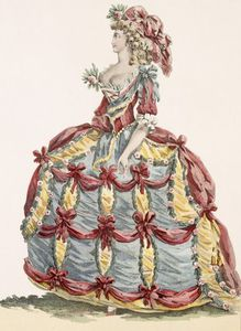 Augustin De Saint Aubin - Lady's Gown For 'cour A L'eiqu..