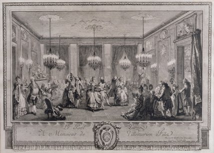 The Evening Dress Ball At The House Of Monsieur De by Augustin De Saint Aubin (1736-1807, France)