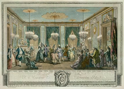The Evening Dress Ball At The House Of Monsieur by Augustin De Saint Aubin (1736-1807, France)
