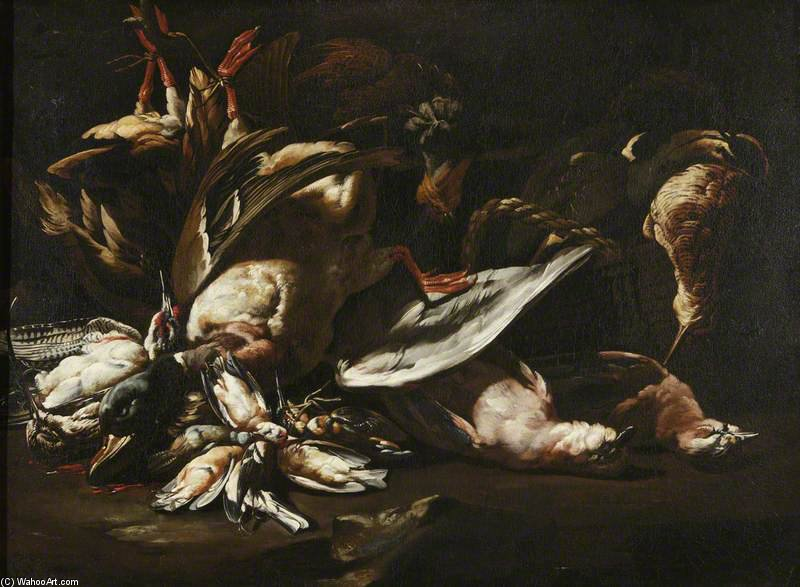 Still Life Of Dead Game by Baldassare De Caro (1689-1750, Italy)