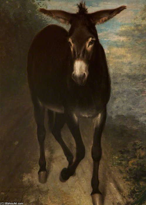 A Sicilian Ass by Benjamin Robert Haydon (1786-1846, United Kingdom) | ArtsDot.com