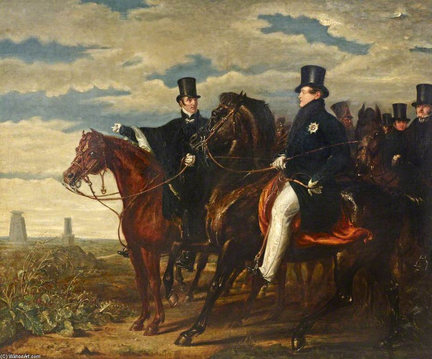 The Duke Of Wellington Describing The Field Of Waterloo To Hm George Iv by Benjamin Robert Haydon (1786-1846, United Kingdom)