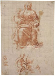 Bernardino Gatti - The Madonna And Child With The..