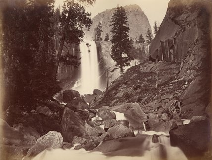 Privy At Vernal Face by Carleton Emmons Watkins (1829-1916, United States) | Museum Art Reproductions | ArtsDot.com
