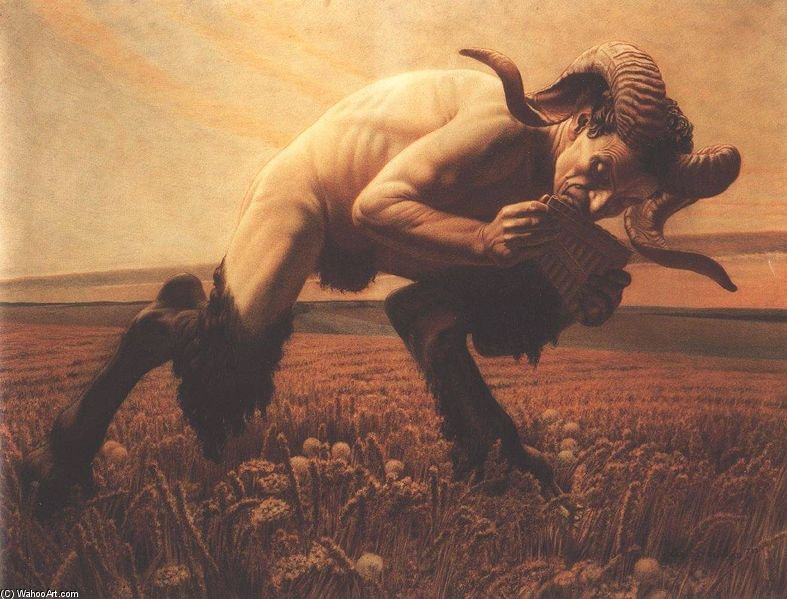 Le Faune by Carlos Schwabe (1866-1926, Germany)