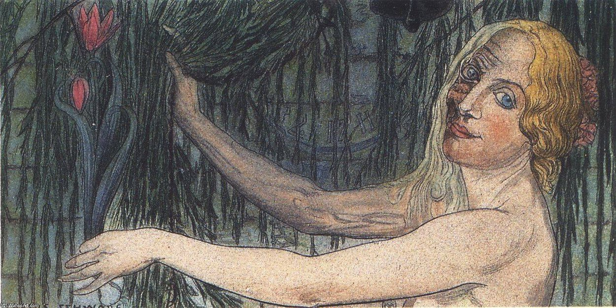 The Clock by Carlos Schwabe (1866-1926, Germany)