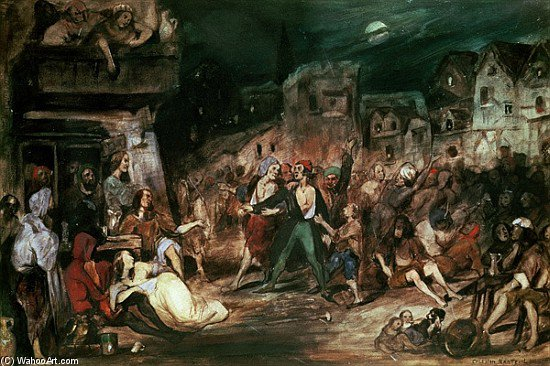 Gringoire In The Court Of Miracles by Celestin Francois Nanteuil (1813-1873, Italy) | Art Reproduction | ArtsDot.com