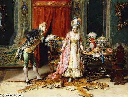 Flowers For Her Ladyship - by Cesare Augusto Detti
