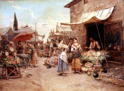 The Marketplace by Cesare Augusto Detti