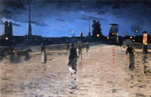 Charles Angrand - Le Pont De Pierre In Roue..