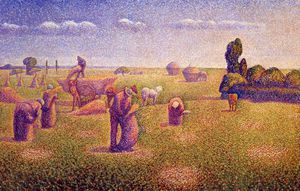 Charles Angrand - The Harvesters