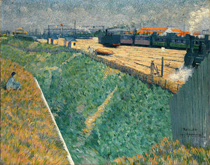 Charles Angrand - The Western Railway At It..