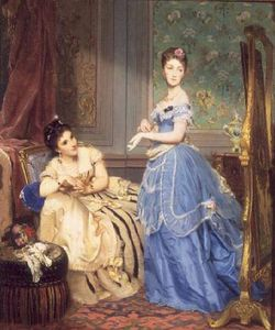 Charles Edouard Boutibonn.. - Getting Dressed