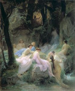 Charles François Jalabert - Nymphs Listening To The Songs ..