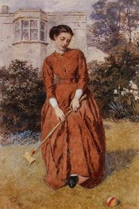 Charles Green - The Croquet Player