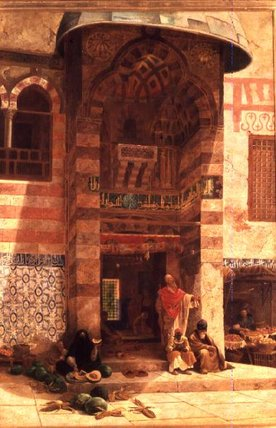 Outside The Mosque by Charles Robertson (1844-1891, United Kingdom)