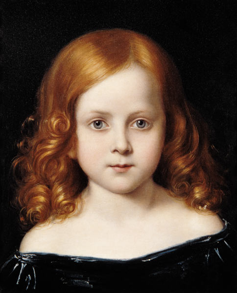 Portrait Of The Artist's Daughter by Charles West Cope (1811-1890, United Kingdom)