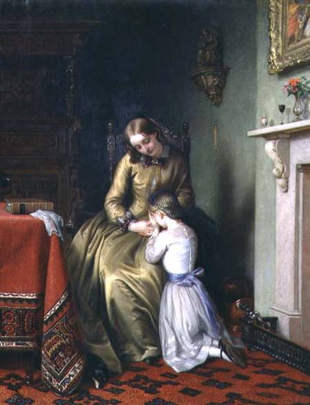 Prayertime by Charles West Cope (1811-1890, United Kingdom)