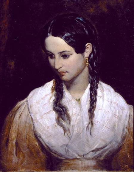 The Inkeeper's Daughter by Charles West Cope (1811-1890, United Kingdom)