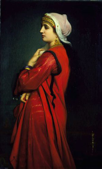 An Armenian Woman by Charles Zacharie Landelle (1821-1908, Canada)