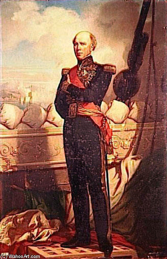 Baudin Amiral De France by Charles Zacharie Landelle (1821-1908, Canada)