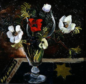 Christopher Wood - Anemones In A Glass
